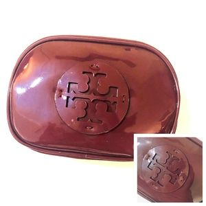NWT~TORY BURCH~Stacked Patent Leather CosmeticCase